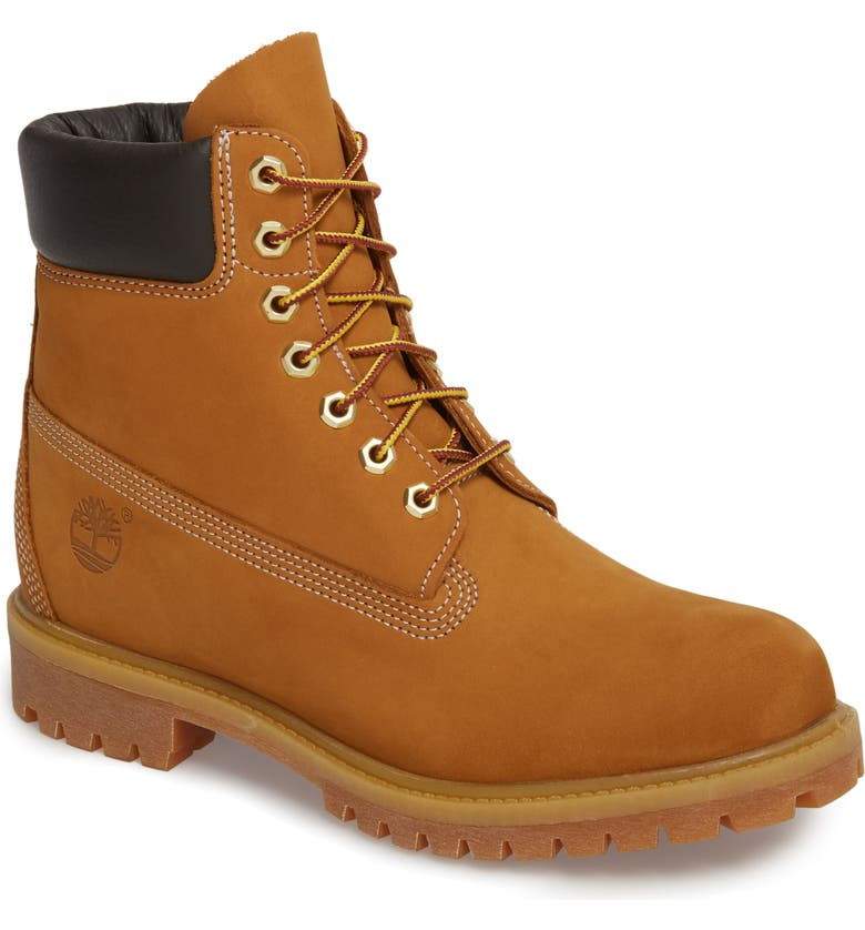 TIMBERLAND 6 Inch Premium Waterproof Boot, Main, color, WHEAT