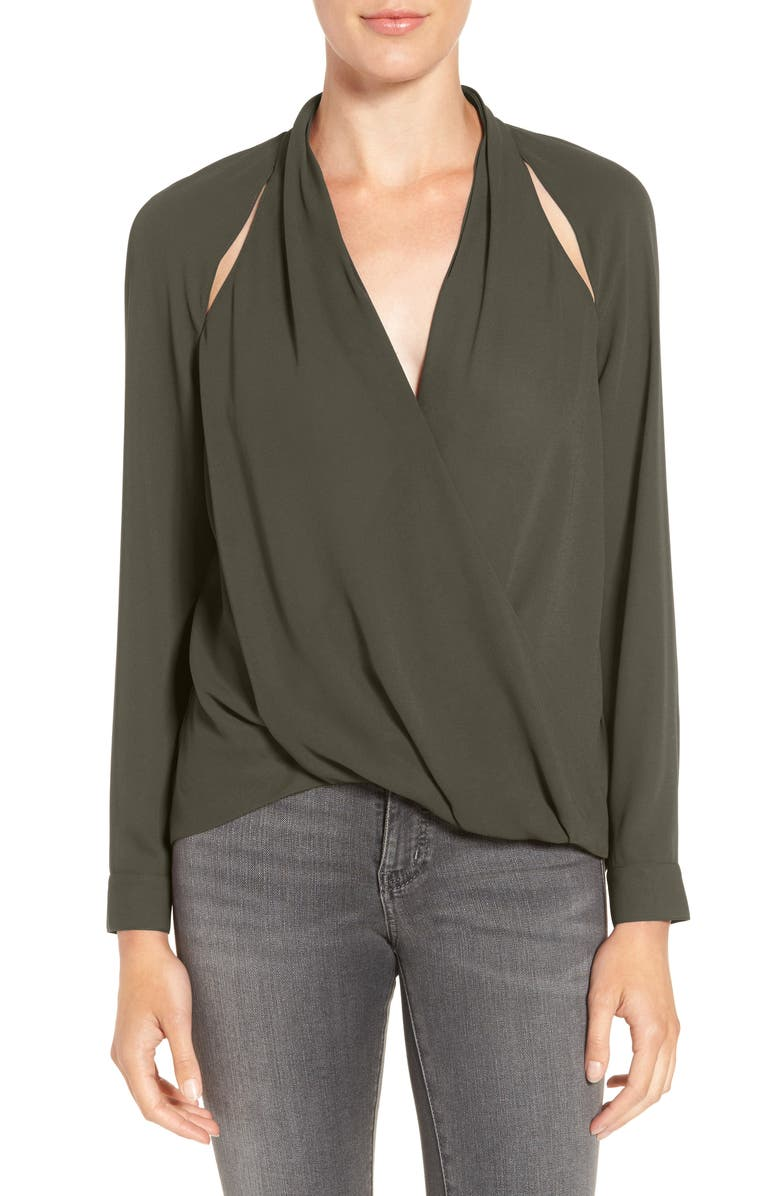 CHELSEA28 Cutout Surplice Top, Main, color, 310