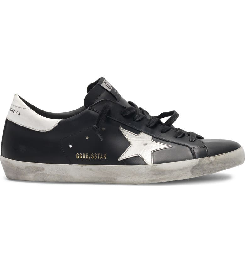 GOLDEN GOOSE Super-Star Sneaker, Main, color, BLACK/ WHITE