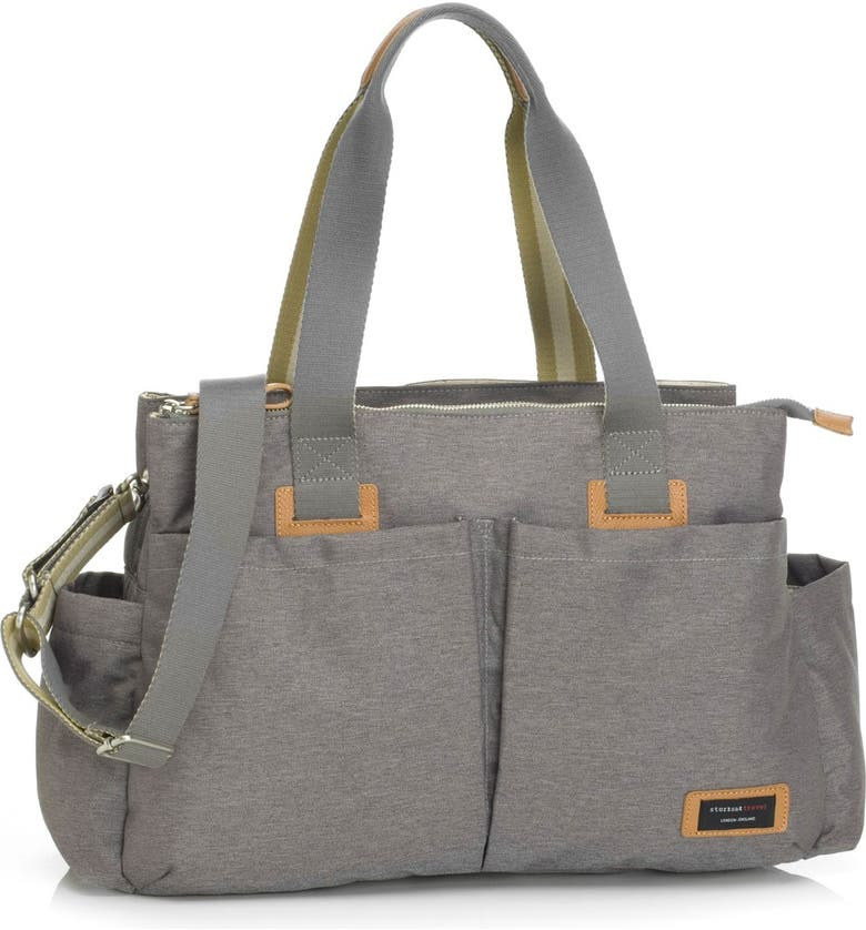 STORKSAK Diaper Shoulder Bag, Main, color, Grey