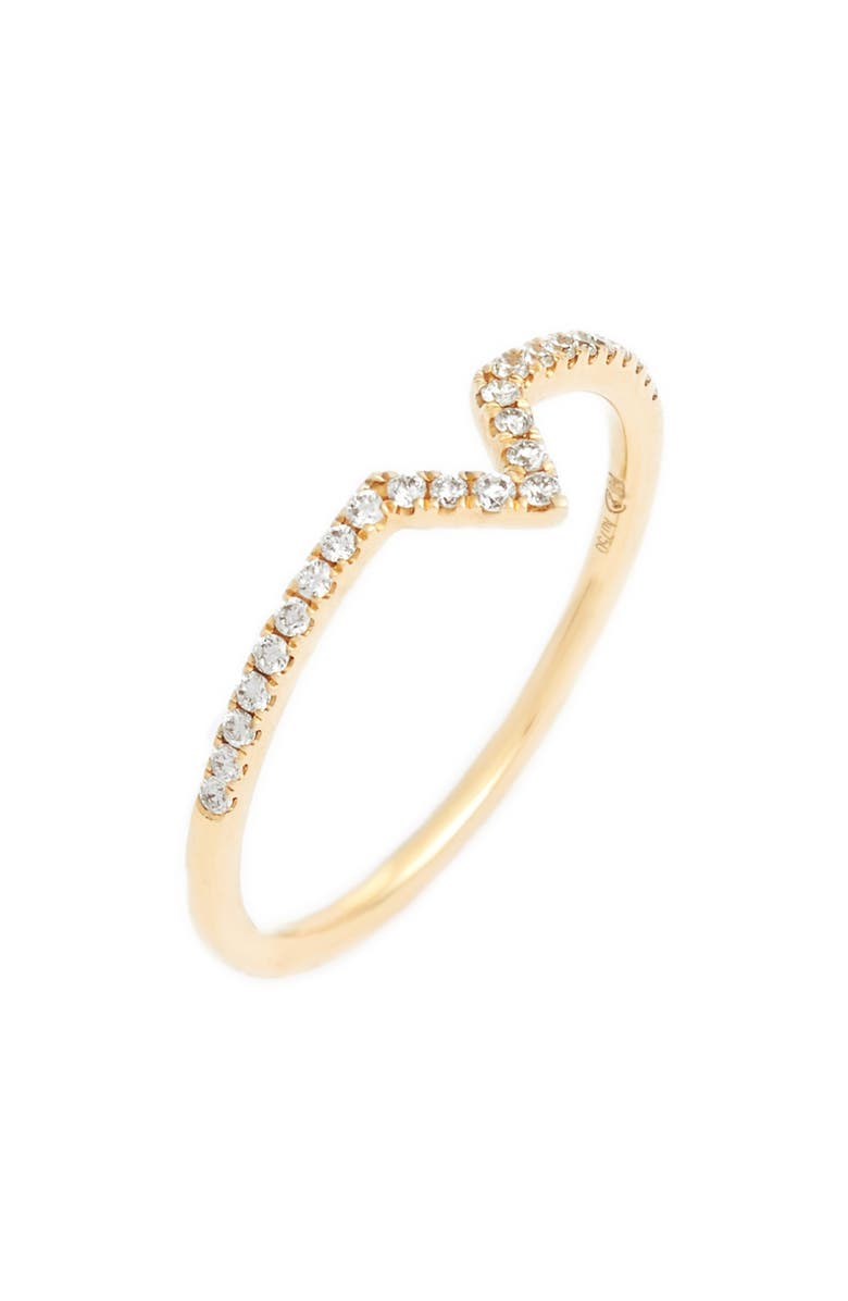 BONY LEVY Open Triangle Stackable Diamond Ring, Main, color, 710