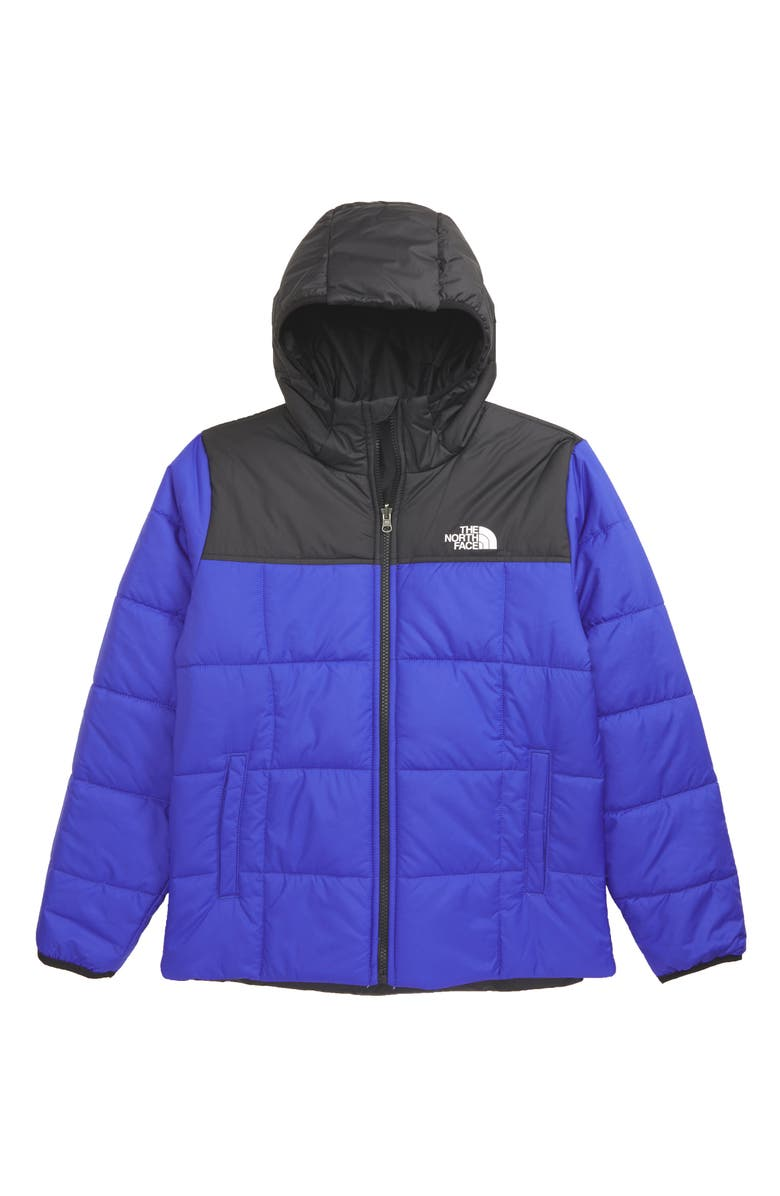 THE NORTH FACE Kids' Perrito Reversible Water Repellent Hooded Jacket, Main, color, 401