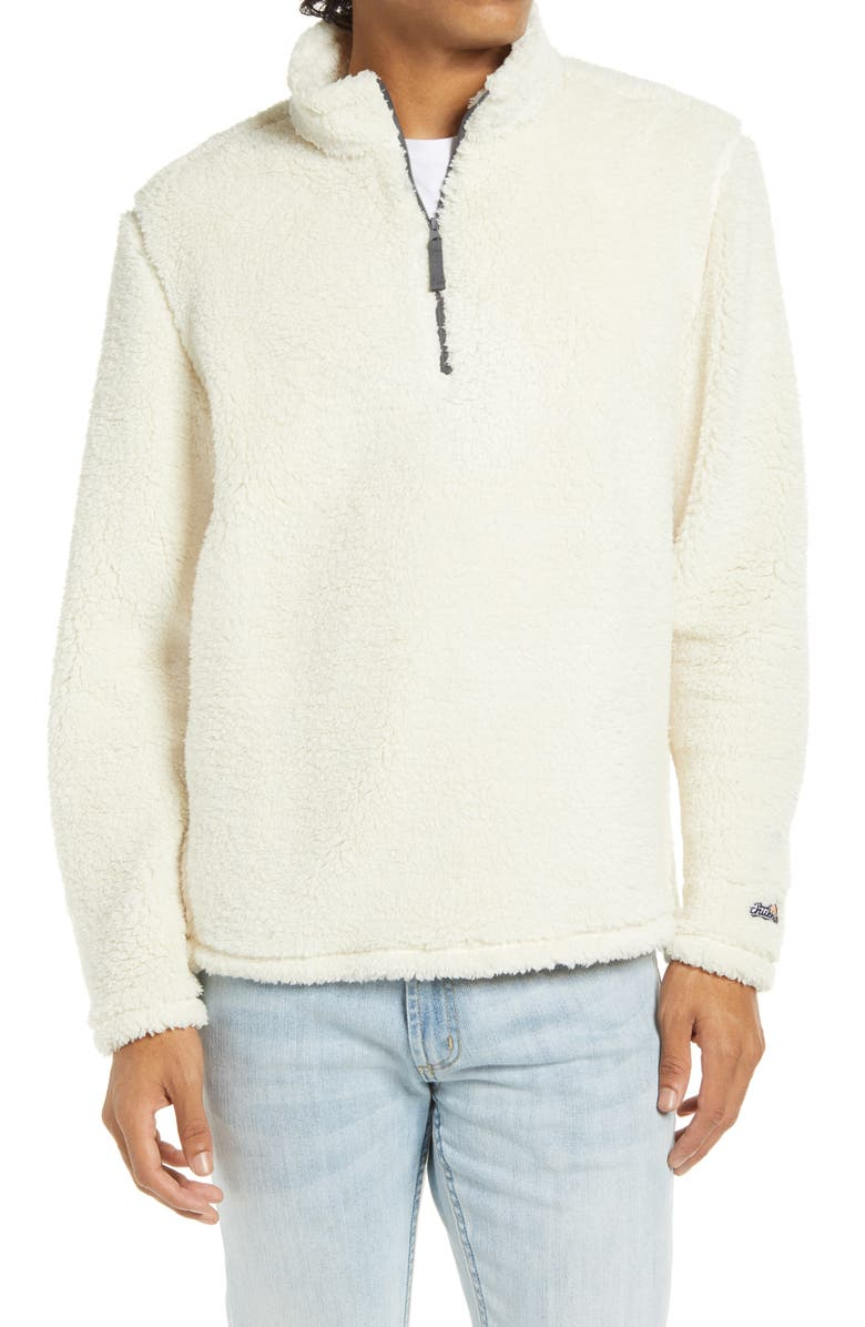 CHUBBIES The Fresh Powder Half Zip Pullover, Main, color, NATURAL