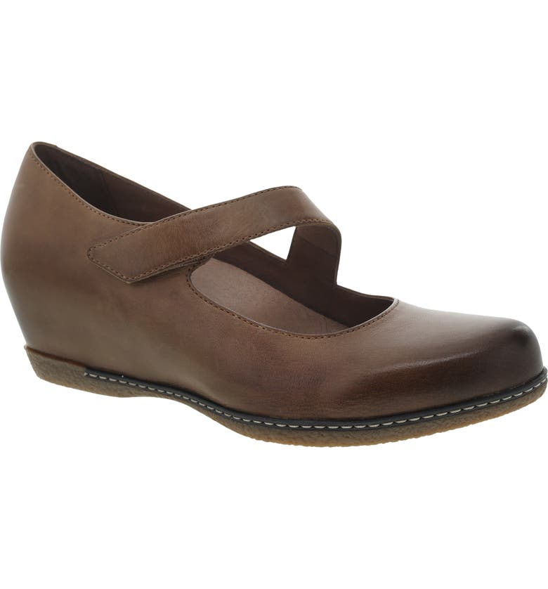 DANSKO Lanie Mary Jane, Main, color, TAN BURNISHED NUBUCK LEATHER