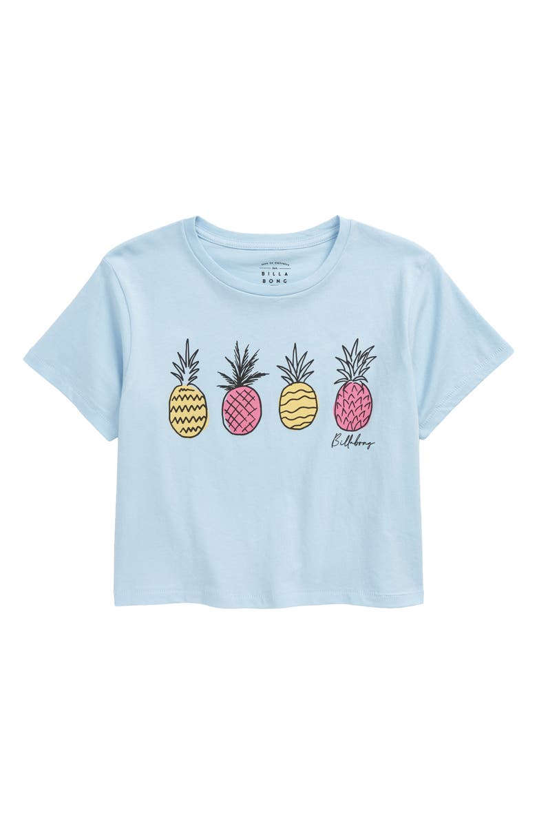 BILLABONG Kids' Pineapple Party Boxy Graphic Tee, Main, color, 456