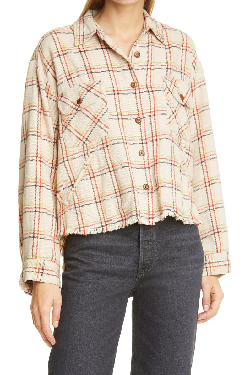THE GREAT. The Voyager Plaid Jacket, Main, color, CANOE PLAID