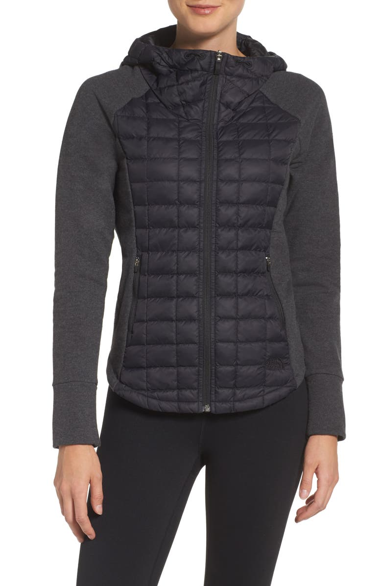 THE NORTH FACE 'Endeavor' ThermoBall PrimaLoft<sup>®</sup> Quilted Jacket, Main, color, TNF BLACK/ TNF BLACK HEATHER