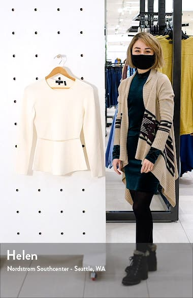 Compact Crepe Peplum Pullover, sales video thumbnail