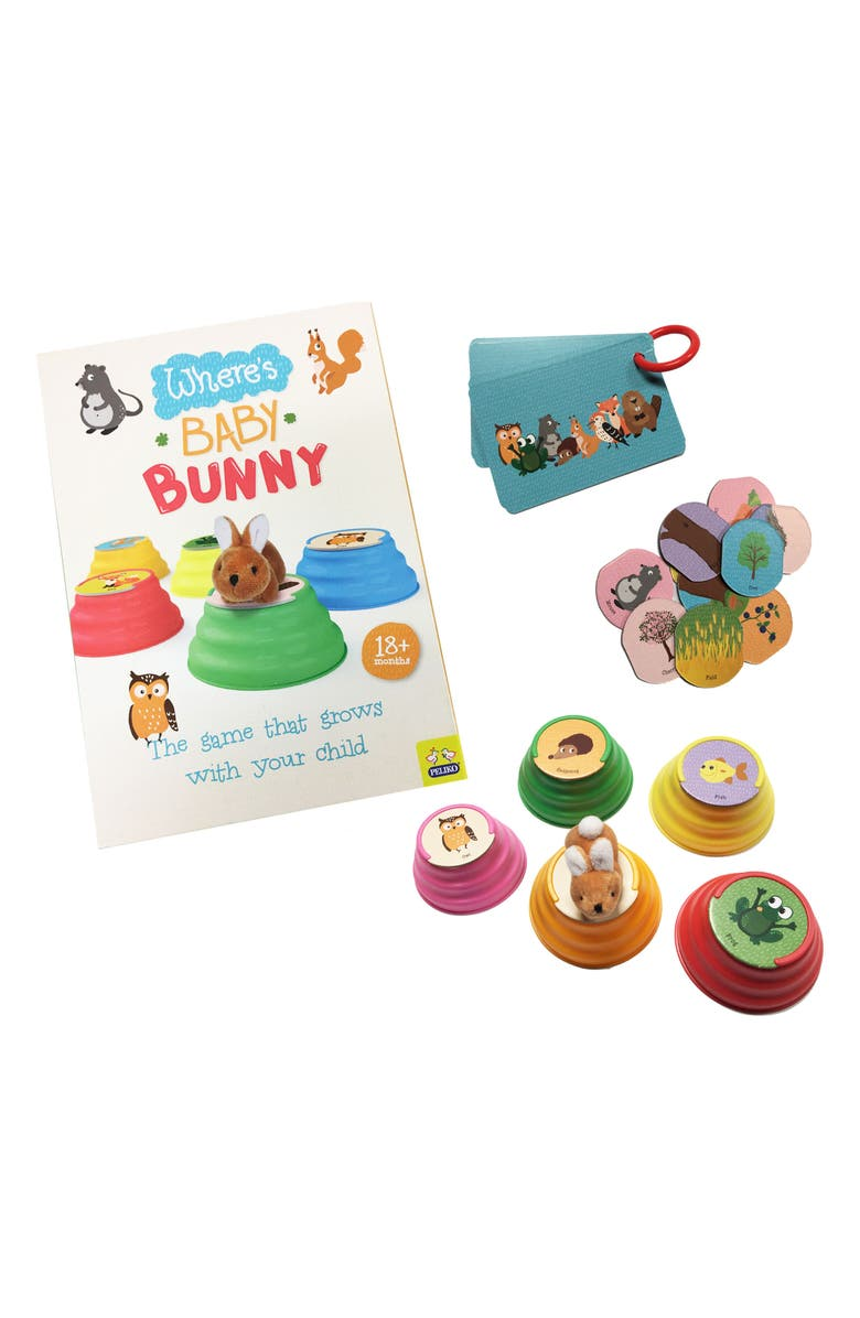 ZIPPY FLYER Where's Baby Bunny Game, Main, color, MULTI