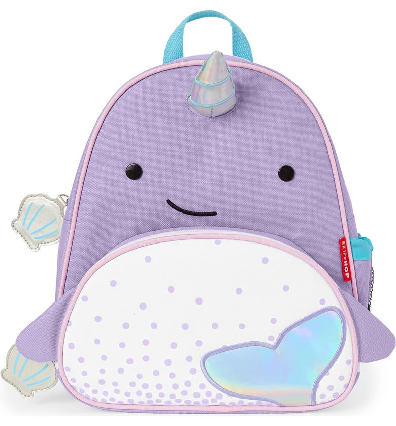 SKIP HOP Zoo Narwhal Backpack, Main, color, 530