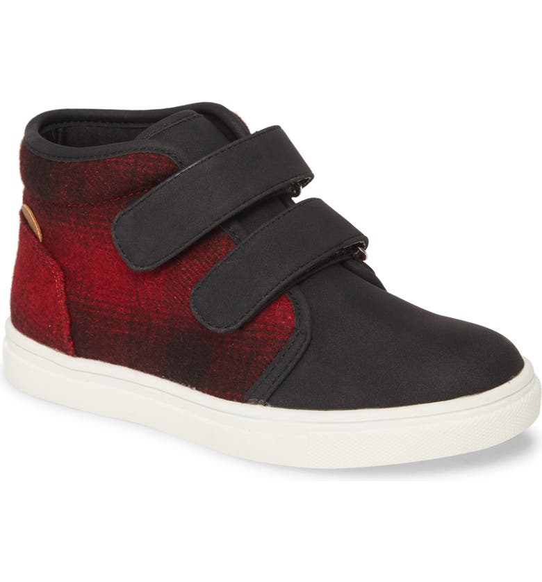 TUCKER + TATE Double Strap High Top Sneaker, Main, color, 001