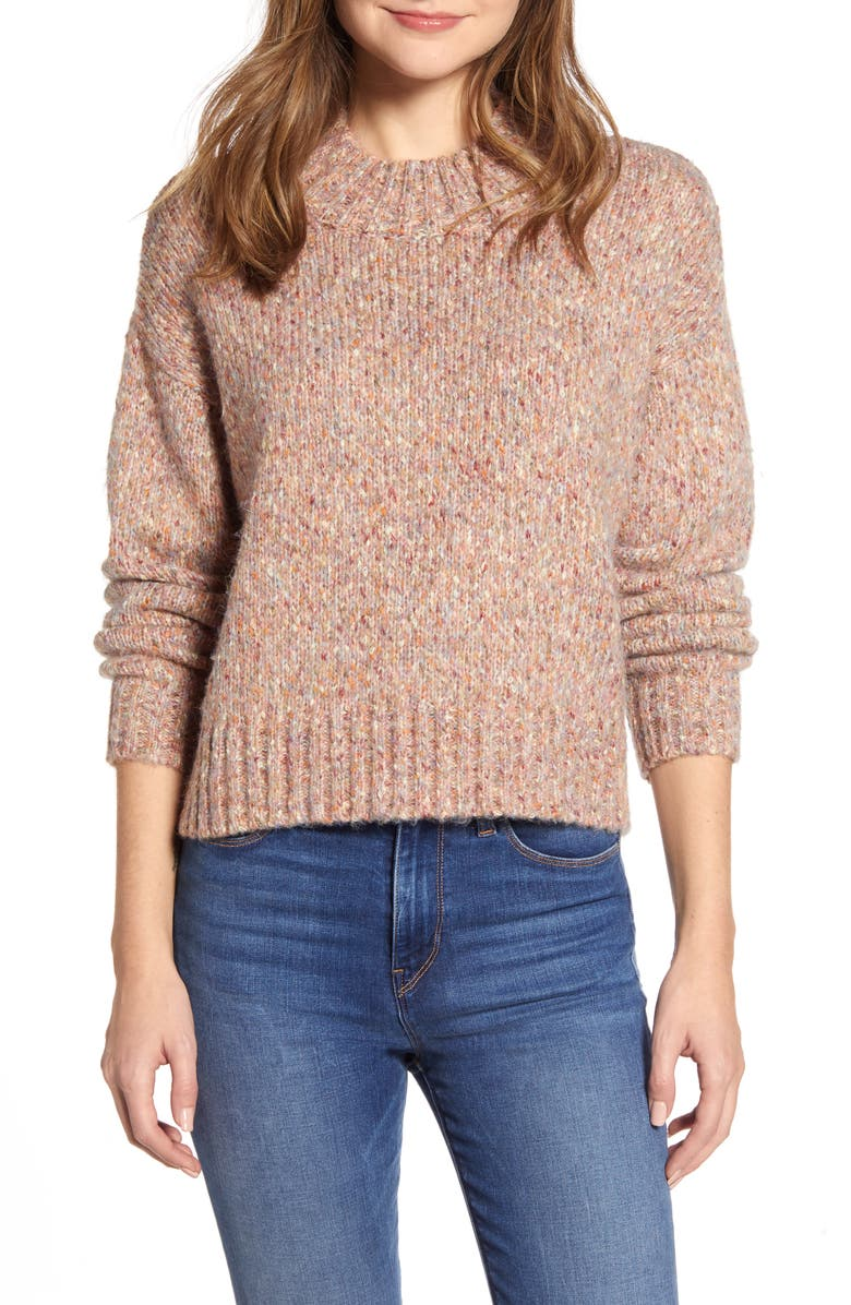 RD STYLE Marled Mock Neck Sweater, Main, color, 650