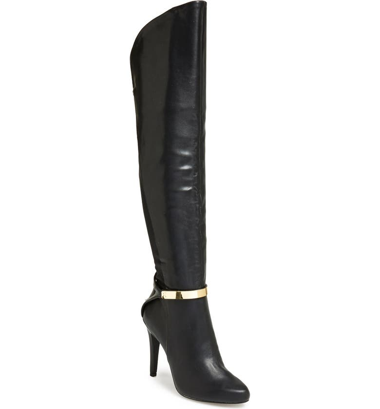 FERGIE 'Cove' Over The Knee Boot, Main, color, Black