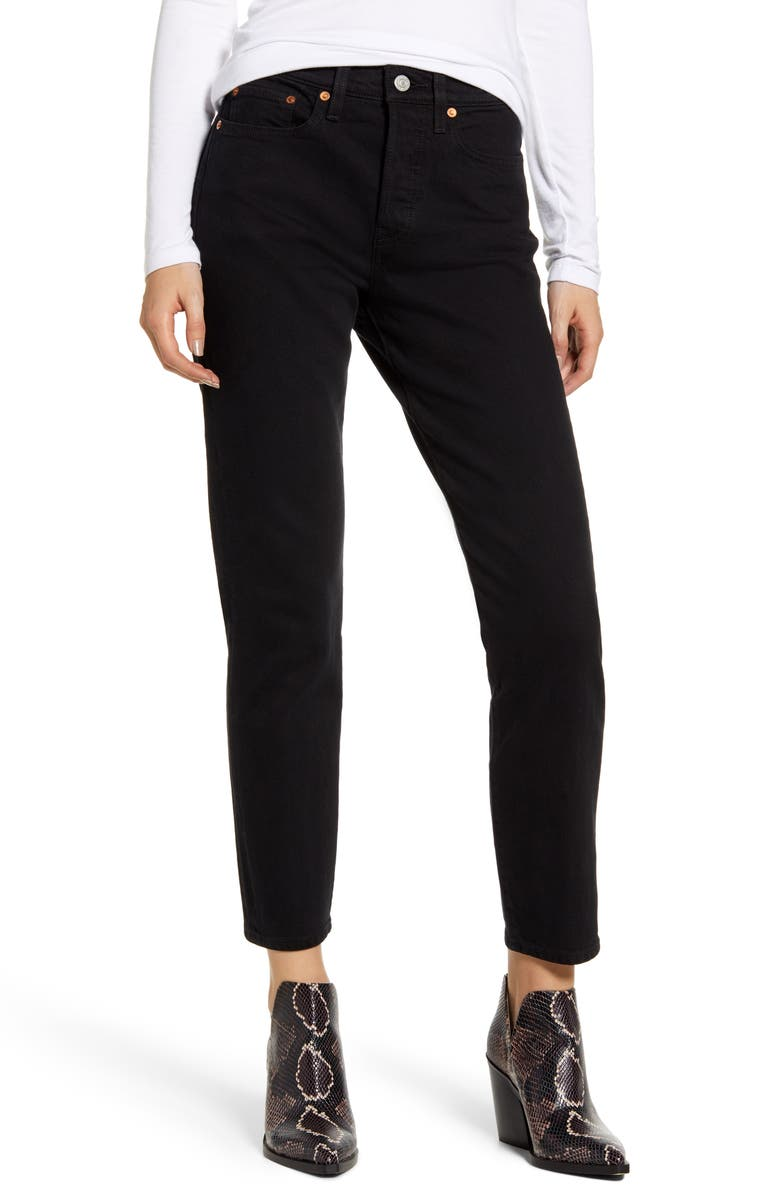 LEVI'S<SUP>®</SUP> Wedgie Icon Fit High Waist Ankle Jeans, Main, color, 001