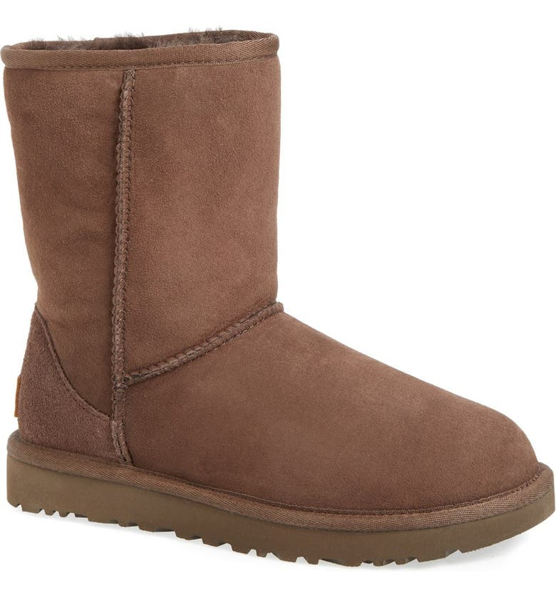 UGG<SUP>®</SUP> Classic II Genuine Shearling Lined Short Boot, Main, color, CHOCOLATE SUEDE