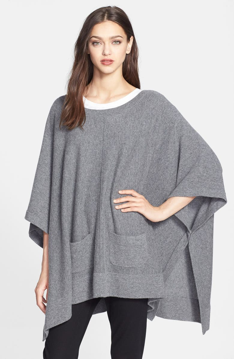 NORDSTROM COLLECTION Cashmere Poncho, Main, color, 020