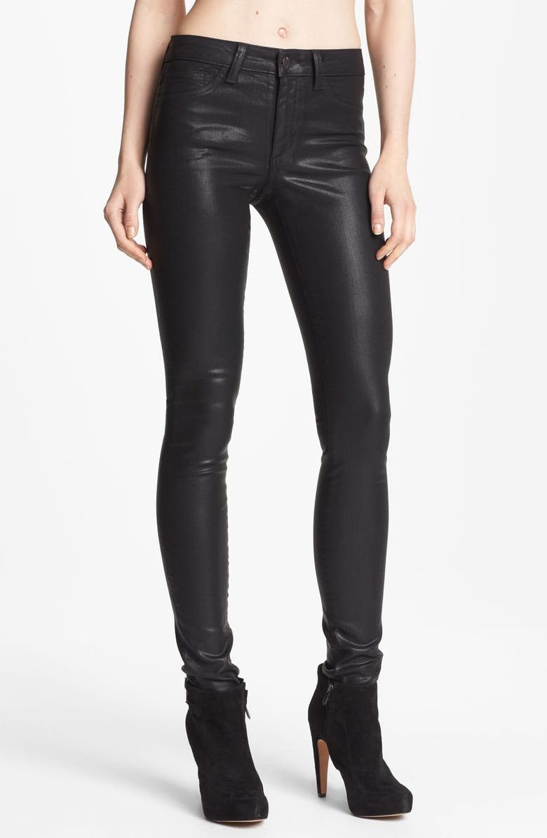 JOE'S 'The Skinny' Coated Stretch Jeans, Main, color, 001