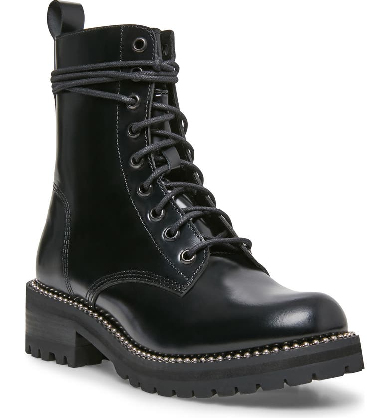STEVEN NEW YORK Gardy Combat Boot, Main, color, BLACK BOX LEATHER