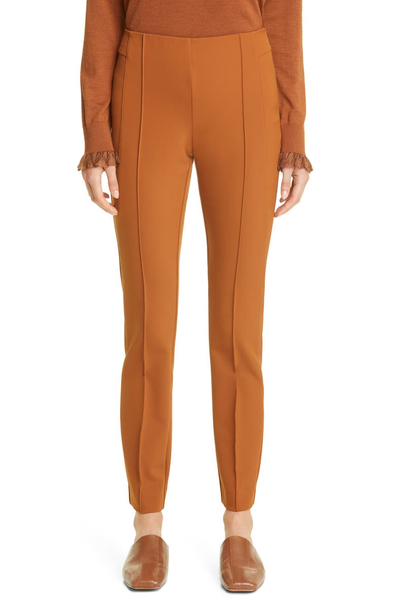 LAFAYETTE 148 NEW YORK Gramercy Acclaimed Stretch Pants, Main, color, CAPPUCCINO