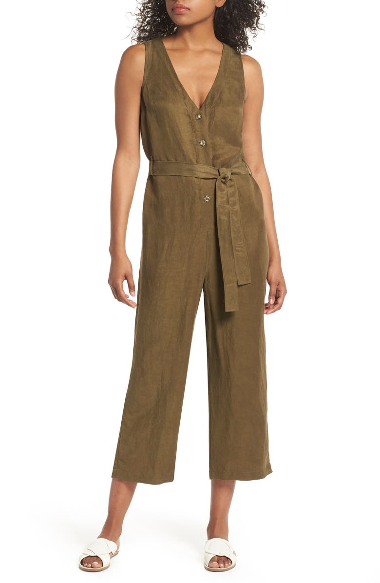 FIRST MONDAY Sleeveless V-Neck Jumpsuit, Main, color, 300