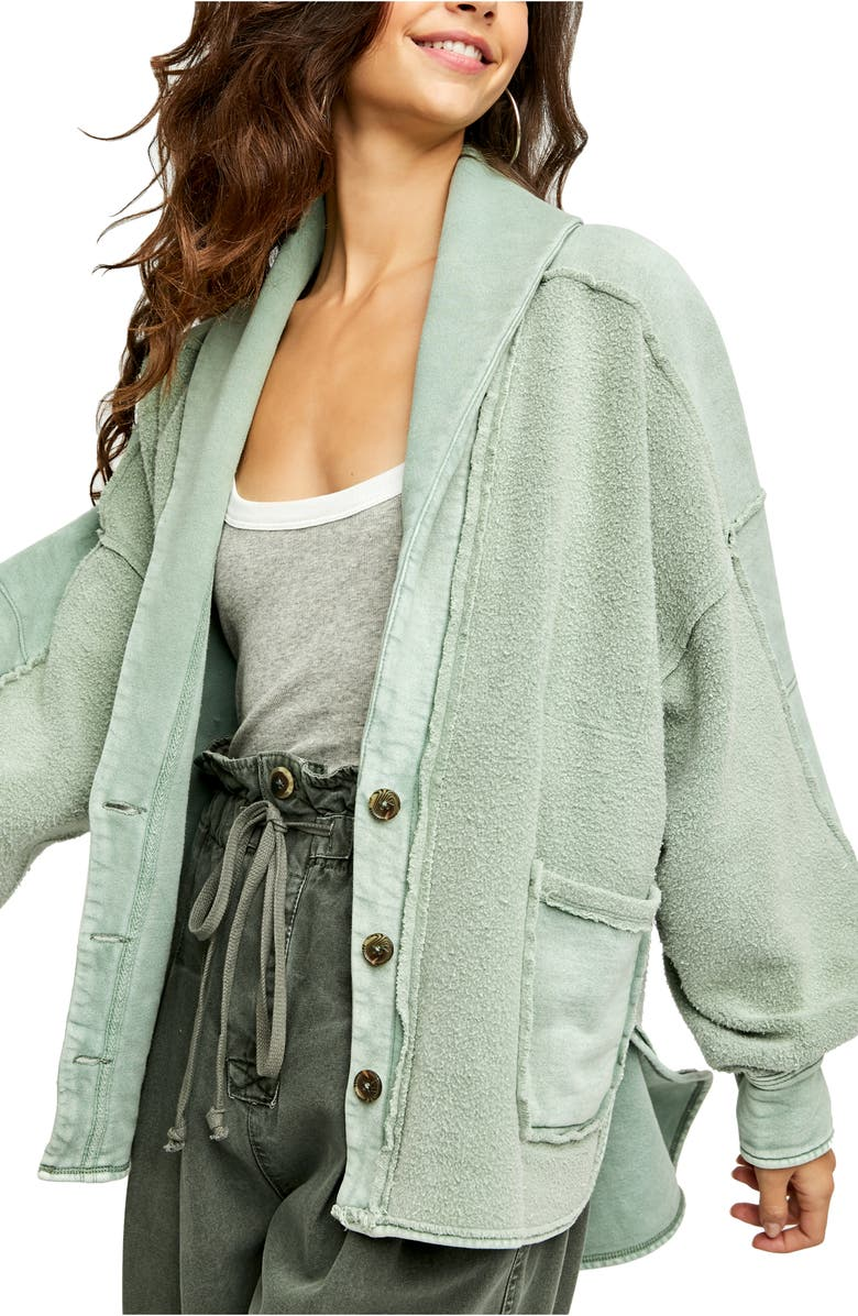 FREE PEOPLE Jordan Jacket, Main, color, BLEACHED MILITARY