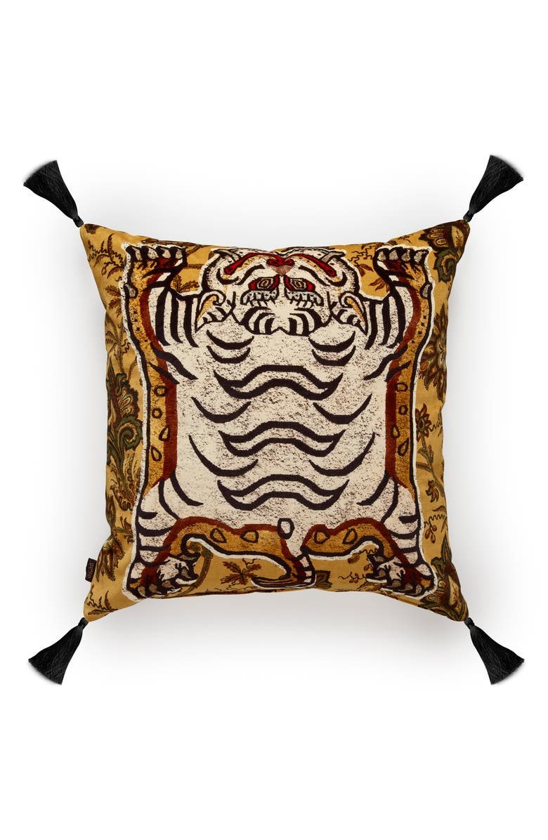 HOUSE OF HACKNEY Tigres Velveteen Accent Pillow, Main, color, 700