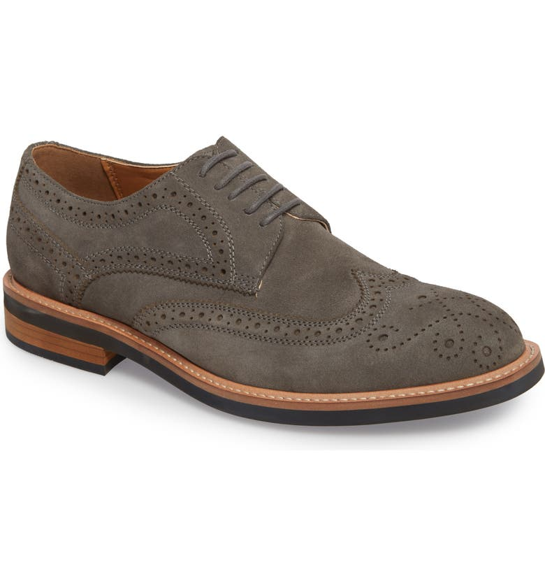 REACTION KENNETH COLE Kenneth Cole Reaction Wingtip, Main, color, Grey