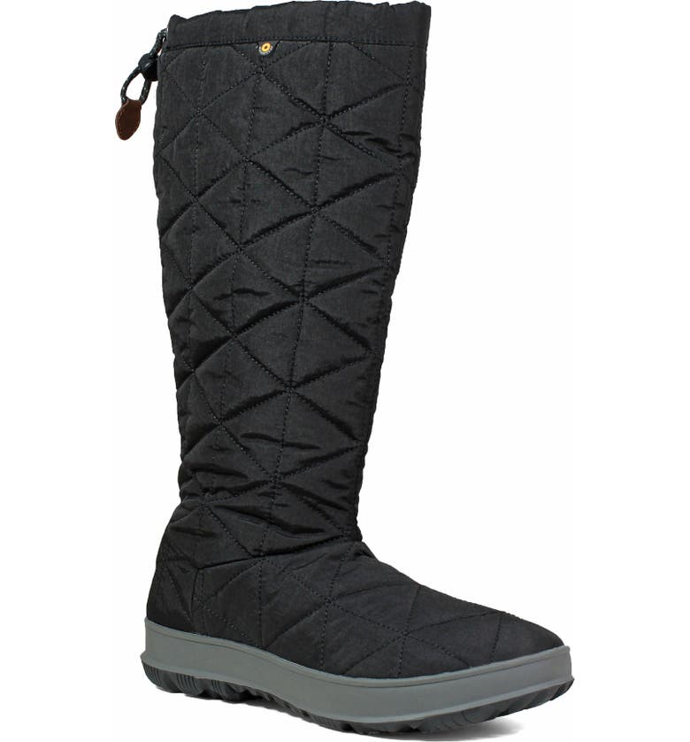 BOGS Snowday Tall Waterproof Quilted Snow Boot, Main, color, 001