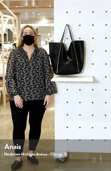 Chain Faux Leather Tote, sales video thumbnail