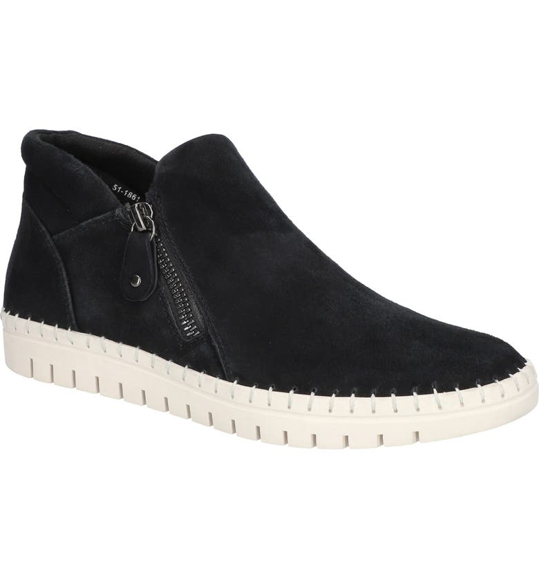 BELLA VITA Camberley Ankle Boot, Main, color, BLACK SUEDE