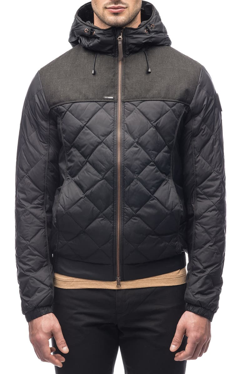 NOBIS Packable Quilted Down Jacket, Main, color, BLACK/BLACK