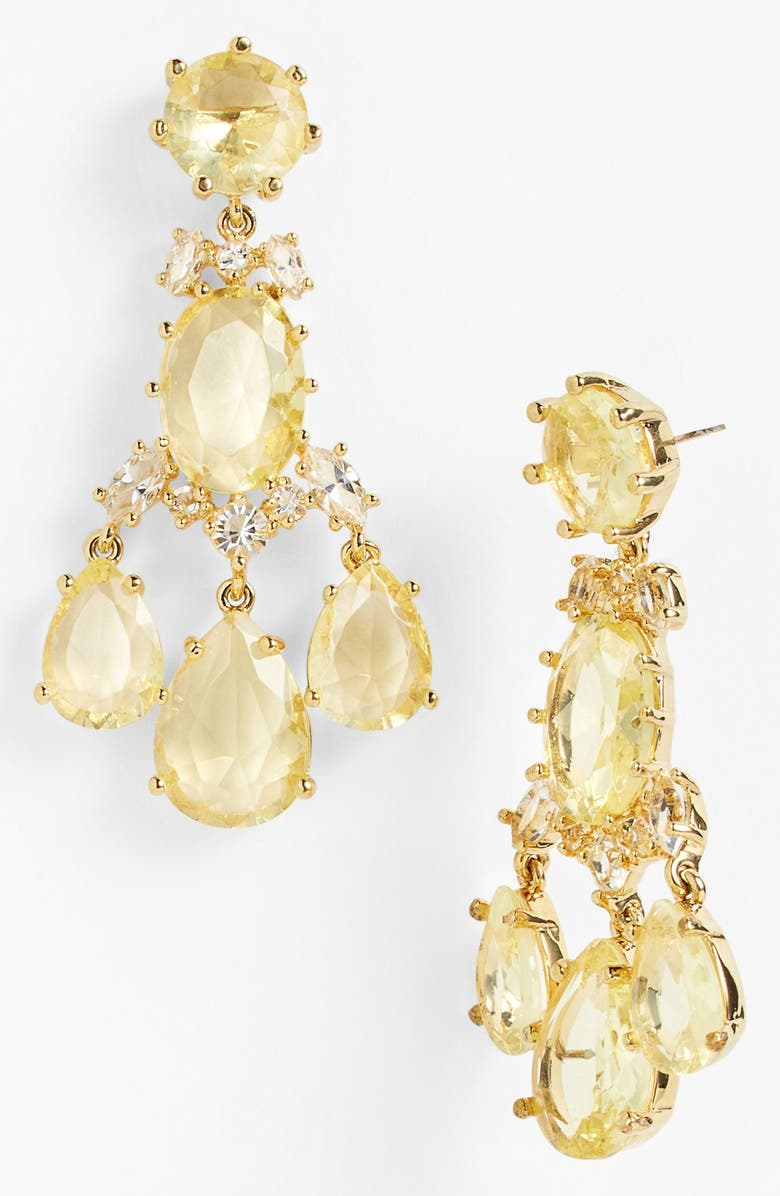 KATE SPADE NEW YORK 'up the ante' stone chandelier earrings, Main, color, 740