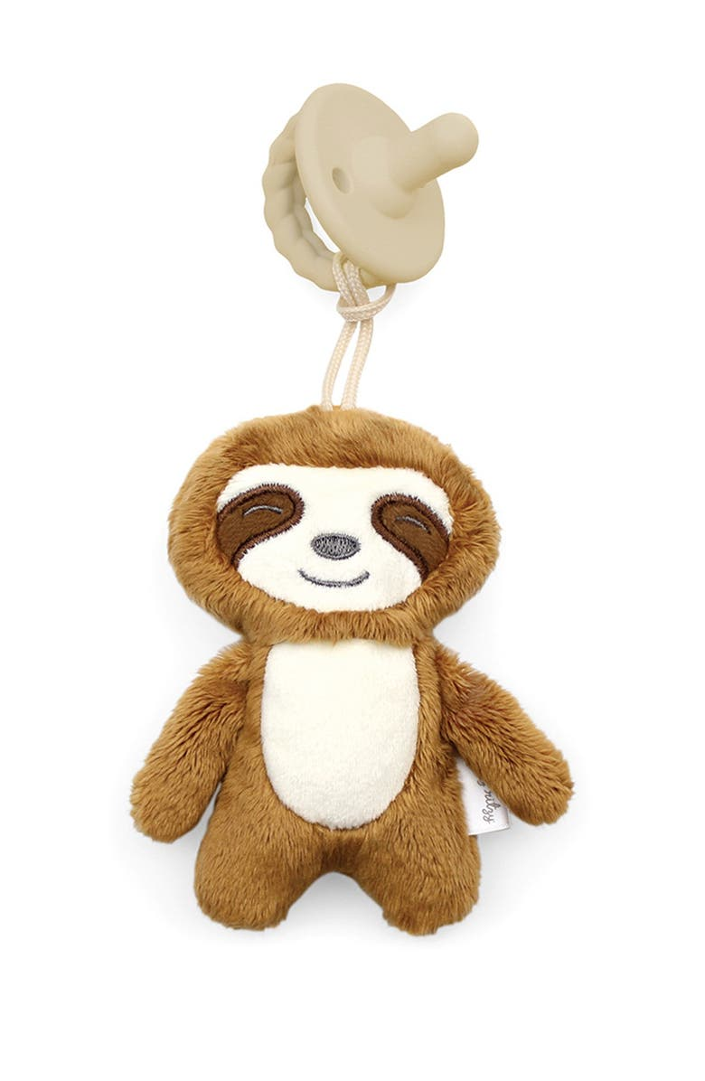 ITZY RITZY Sweetie Pal Pacifier - Sloth, Main, color, BROWN