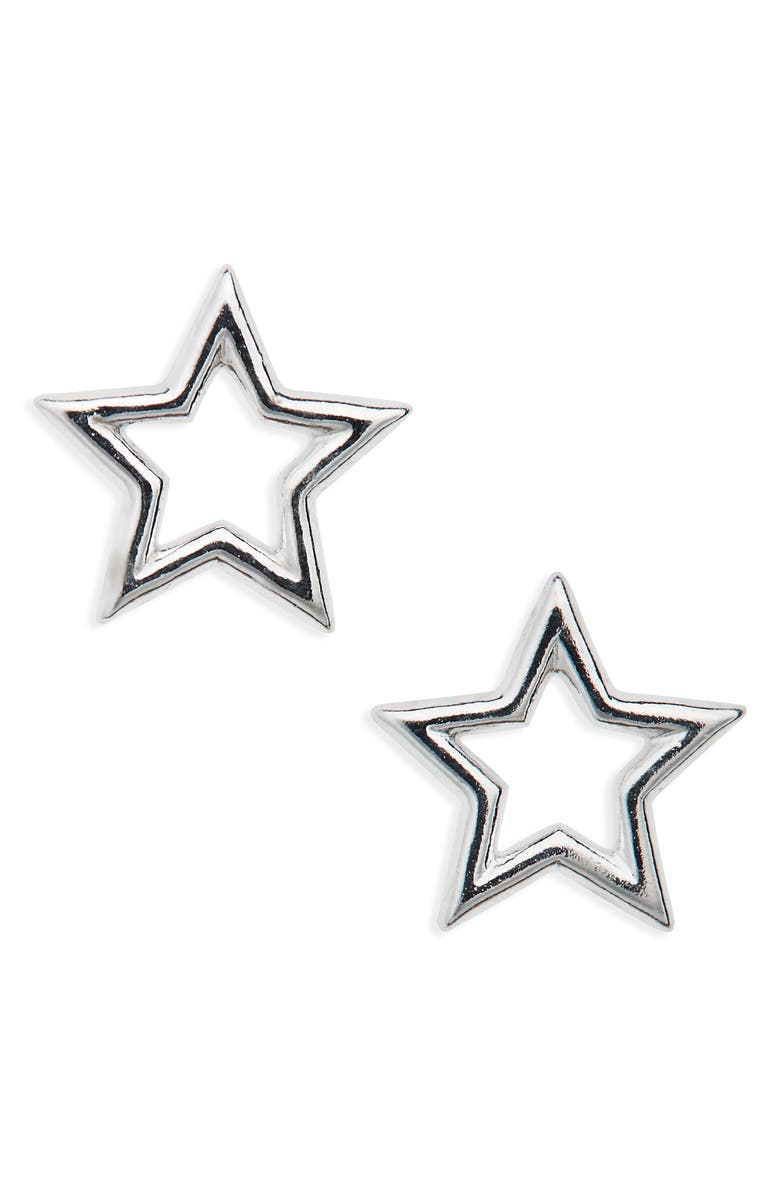 ESTELLA BARTLETT Small Open Star Stud Earrings, Main, color, 040