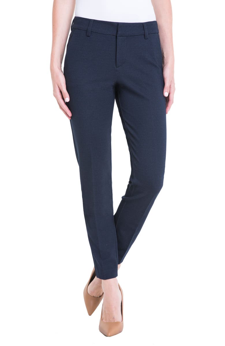 LIVERPOOL Kelsey Bird's Eye Trousers, Main, color, 403