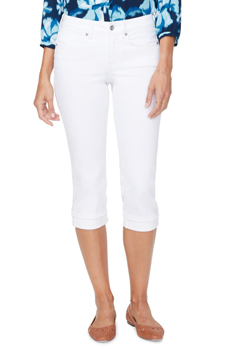 NYDJ Marilyn Crop Cuff Jeans, Main, color, OPTIC WHITE