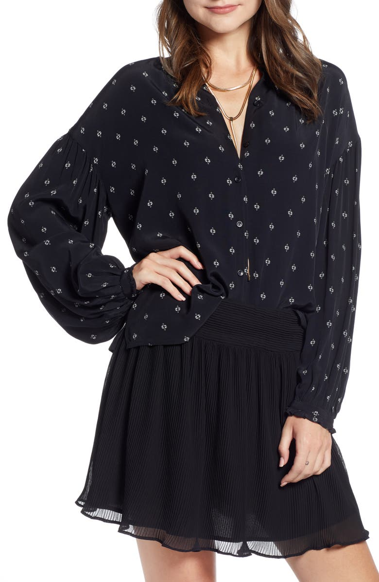 SOMETHING NAVY Easy Volume Top, Main, color, 001
