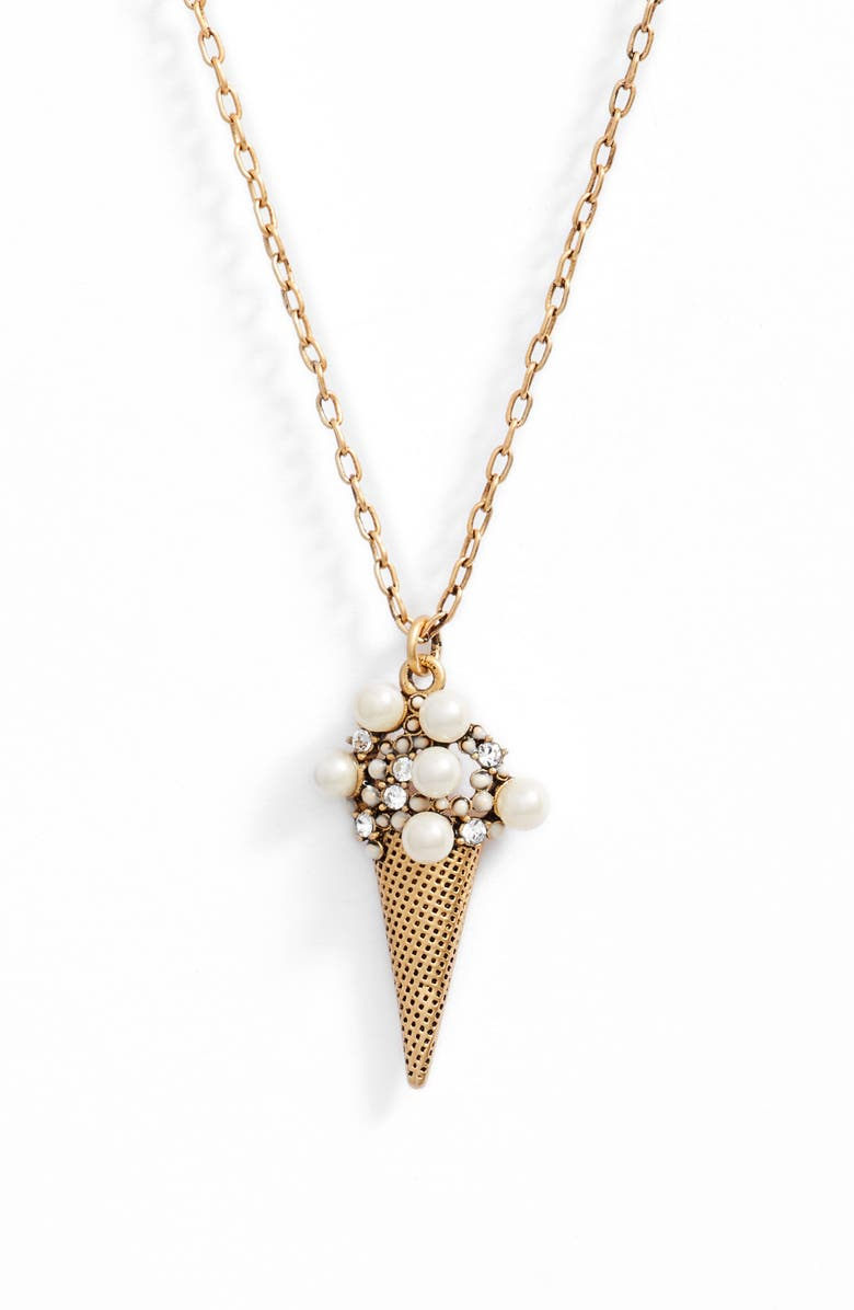 MARC JACOBS Ice Cream Pendant Necklace, Main, color, 710