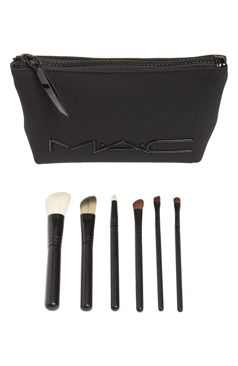 MAC COSMETICS M·A·C 'Look in a Box - Advanced' Travel Brush Kit, Main, color, 000