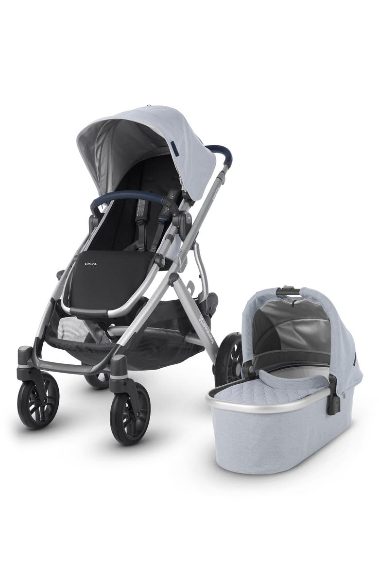 UPPABABY VISTA Aluminum Frame Convertible Complete Stroller with Leather Trim, Main, color, 450