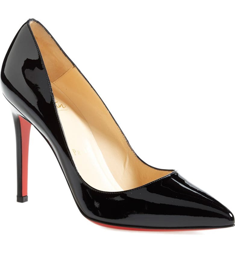 CHRISTIAN LOUBOUTIN Pigalle Pointed Toe Pump, Main, color, 001