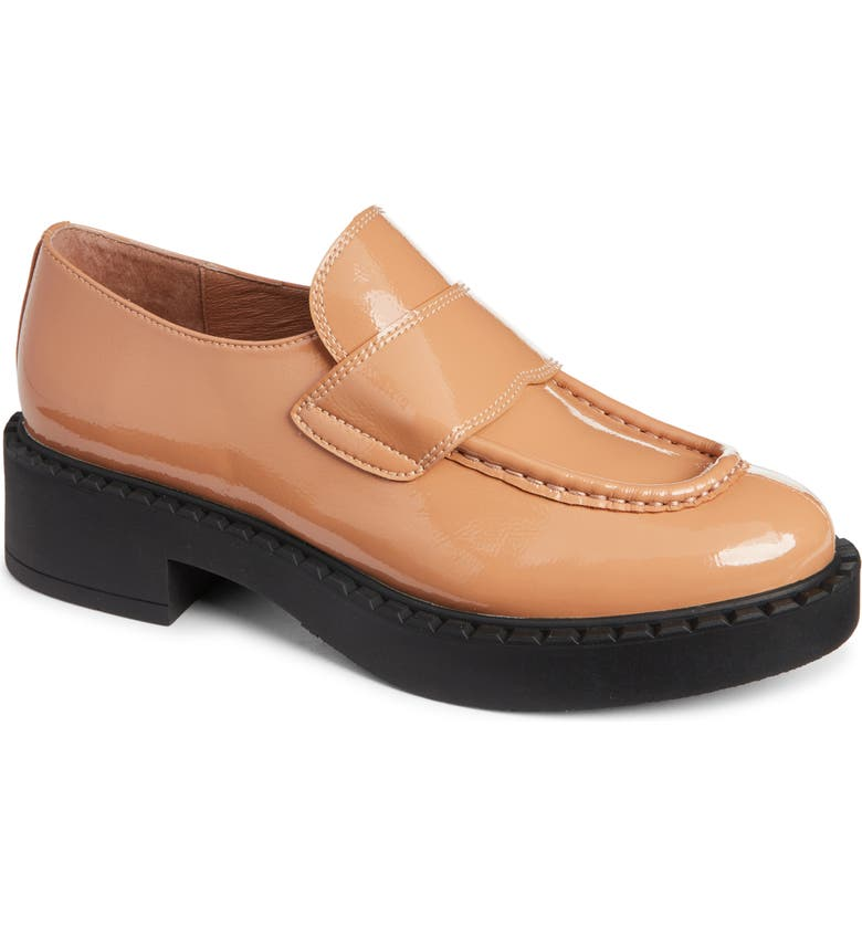 JEFFREY CAMPBELL Librarian Loafer, Main, color, DARK NUDE PATENT LEATHER
