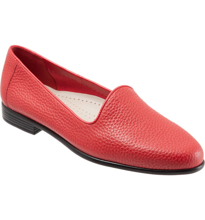 TROTTERS Liz Loafer, Main, color, RED LEATHER
