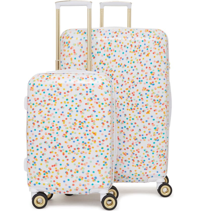 CALPAK x Oh Joy! 28-Inch & 20-Inch Hardshell Spinner Suitcase & Carry-On Set, Main, color, CONFETTI