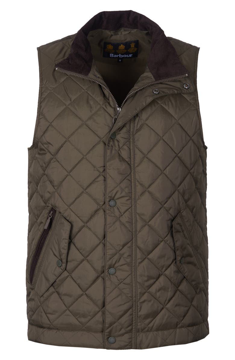 BARBOUR Kensington Quilted Nylon Vest, Main, color, 340