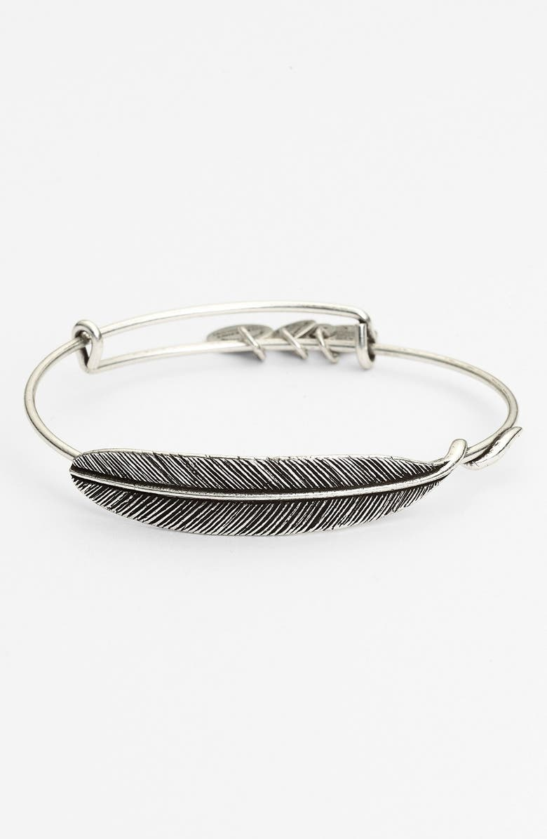 ALEX AND ANI Quill Expandable Wire Bangle, Main, color, 040