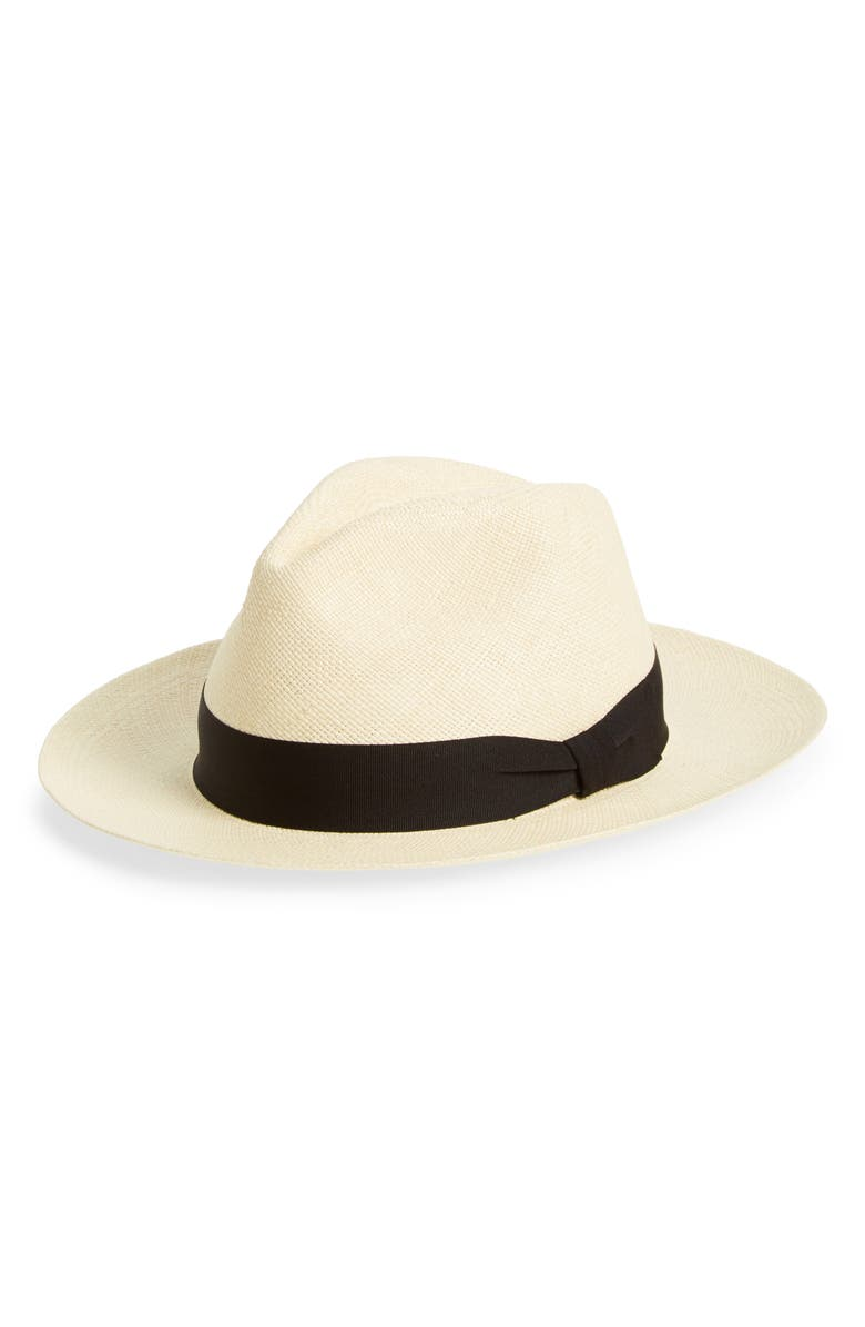 FRYE Panama Straw Fedora, Main, color, SAND