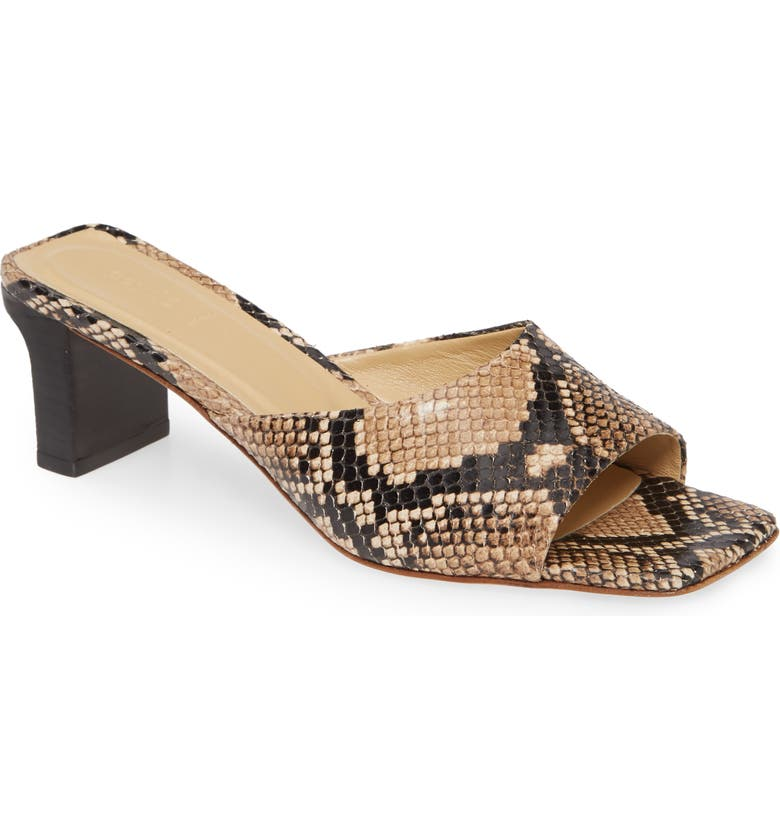 AEYDE Katti Slip-On Sandal, Main, color, NATURAL SNAKE PRINT