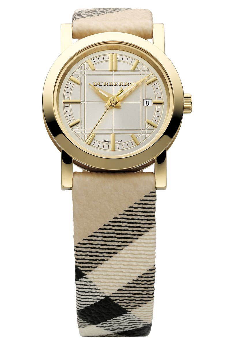 BURBERRY Stainless Steel Bracelet Watch, Main, color, 710