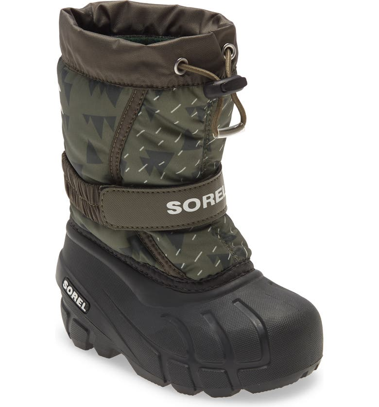 SOREL Flurry Weather Resistant Snow Boot, Main, color, SLATE GREEN